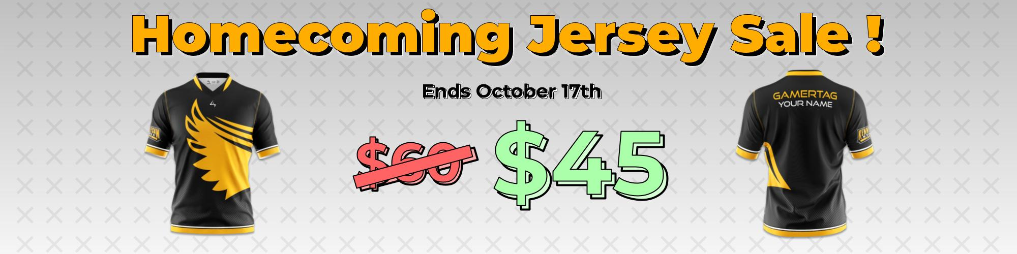 Homecoming Jersey Sale